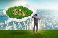 Ekologiczny poj?cie emisja gaz?w cieplarnianych obraz stock
