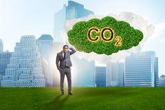 Ekologiczny poj?cie emisja gaz?w cieplarnianych fotografia stock