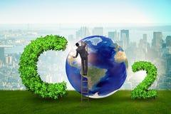 Ekologiczny poj?cie emisja gaz?w cieplarnianych zdjęcie royalty free