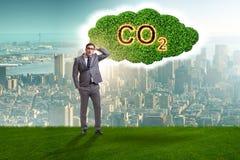 Ekologiczny poj?cie emisja gaz?w cieplarnianych obrazy stock