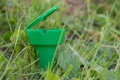 Ekologiczny szyszkowy ashtray obraz royalty free