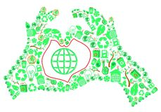 ekologihandförälskelse Royaltyfria Bilder