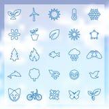 25 ekologii ikon Obrazy Stock