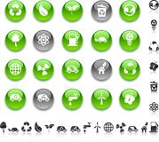 ekologii ikony Zdjęcia Royalty Free
