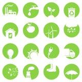 Ekologii ikony Obrazy Stock