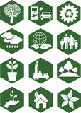 Ekologii ikony Zdjęcie Royalty Free