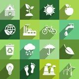 Ekologii ikony Zdjęcia Stock