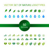 Ekologii ikony, natura logo Fotografia Royalty Free