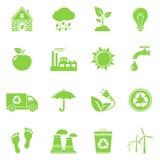 ekologii ikony przetwarzają Fotografia Stock