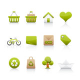 ekologii ikony set Fotografia Royalty Free