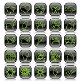 ekologii ikony set Obrazy Stock