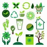 Ekologii ikony ustawiać Ilustracja Wektor