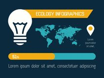 Ekologii Infographic element Obraz Royalty Free