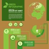 Ekologii Infographic projekta szablon z graficznymi elementami ustawia ilustrację Wektorowa kartoteka w warstwach dla łatwego edy Zdjęcie Stock