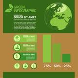 Ekologii Infographic projekta szablon z graficznymi elementami ustawia ilustrację Wektorowa kartoteka w warstwach dla łatwego edy Obrazy Stock