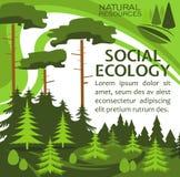 Ekologii ochrony sztandar dla eco stylu życia projekta Obrazy Royalty Free