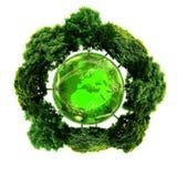 Ekologii planeta z z drzewami wokoło ziemski eco Zdjęcie Royalty Free