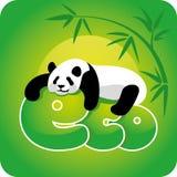 Ekologii pojęcie - panda Zdjęcia Royalty Free