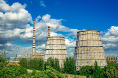 ekologii przemysłu elektrowni thermal Fotografia Stock