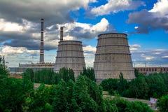 ekologii przemysłu elektrowni thermal Zdjęcie Stock