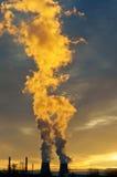 ekologii przemysłu elektrowni thermal Obraz Royalty Free