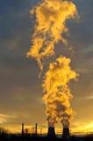 ekologii przemysłu elektrowni thermal Fotografia Royalty Free