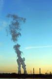 ekologii przemysłu elektrowni thermal Obraz Stock