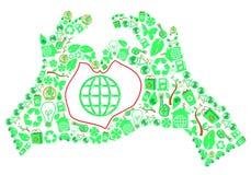 ekologii ręk miłość Obrazy Royalty Free
