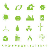 ekologii środowiska zieleni symbole Obraz Stock