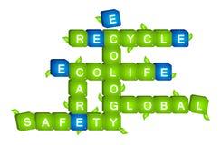 Ekologii scrabble Royalty Ilustracja