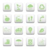 Ekologii sieci ikony Zdjęcie Stock