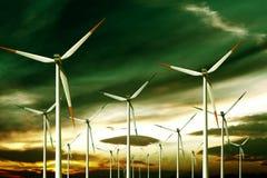 ekologii turbina wiatr Obraz Royalty Free