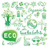 Ekologiklotter vektor illustrationer
