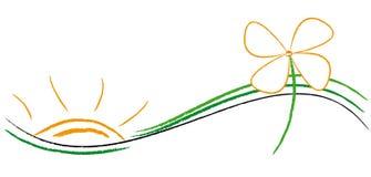 ekologilogo royaltyfri illustrationer