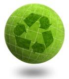 ekologiplanet återanvänder serie Royaltyfri Bild