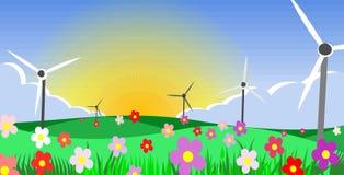 ekologiplanet vektor illustrationer