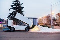 Ekologiproblem i stad i vinter Royaltyfri Foto