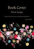 Ekologisk bandtapet illustration för design för bakgrundbakgrundskort blom- Unik botanisk modell med att arbeta i trädgården blom stock illustrationer