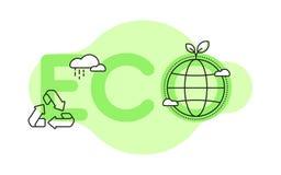 Ekologisk begreppsmässig illustration royaltyfria foton
