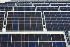 ekologisk energi panels sol- Royaltyfri Fotografi