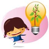 ekologisk flicka Arkivbild