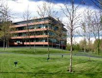 Ekologisk kontorsbyggnad Arkivbilder