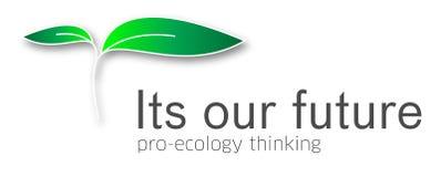 ekologisk logo Royaltyfria Foton