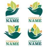 ekologisk logo Arkivfoto