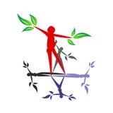 ekologisk logo royaltyfri illustrationer