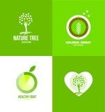Ekologisk logo för naturfrukt Arkivbild