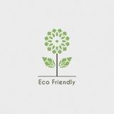 Ekologisk logo för vektor Royaltyfri Fotografi