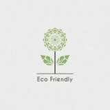 Ekologisk logo för vektor Arkivbild