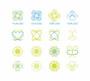 Ekologisk logouppsättning Fotografering för Bildbyråer