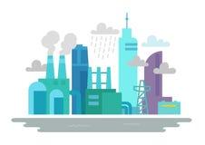 ekologisk miljöfotoförorening för kris Fabriker röktillverkningbransch Fotografering för Bildbyråer